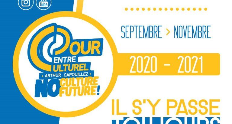Dour (Centre Culturel) – Le programme de rentrée : Septembre > Novembre 2020 !