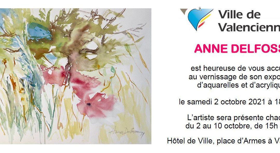 Artiste douroise : Anne Delfosse expose à Valenciennes (France)